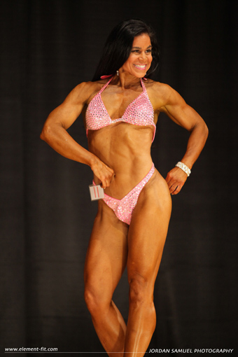 Tara Marie competition pink swimsuit