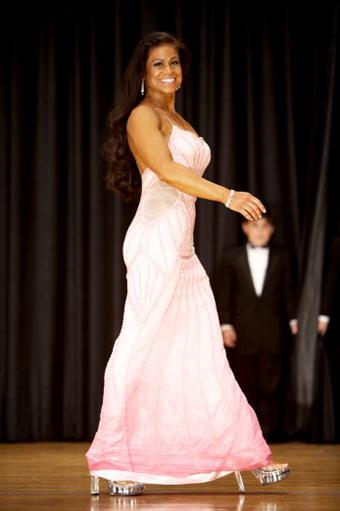 Tara Marie in pink dress