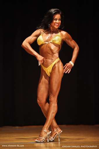 Tara Marie competition yellow swimsuit