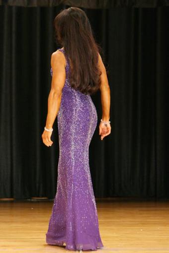 Tara Marie in purple dress