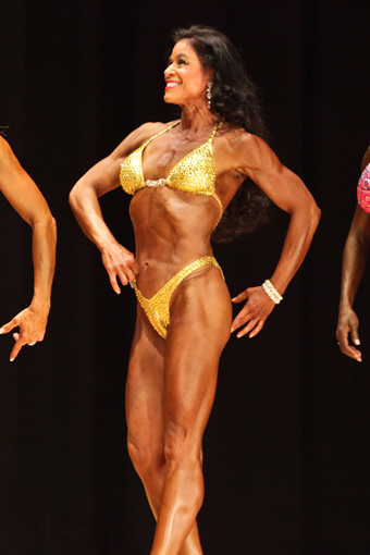 Tara Marie competition gold swimsuit