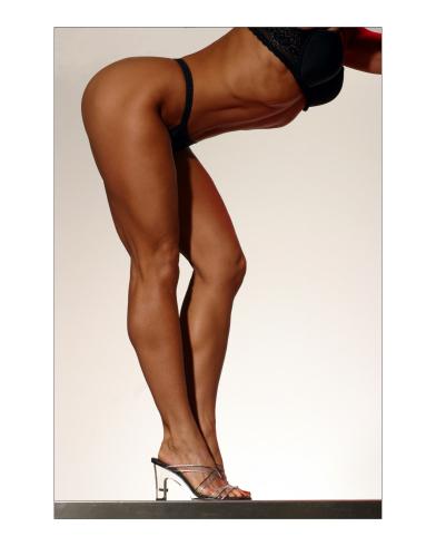 Tara Marie posing in clear heels