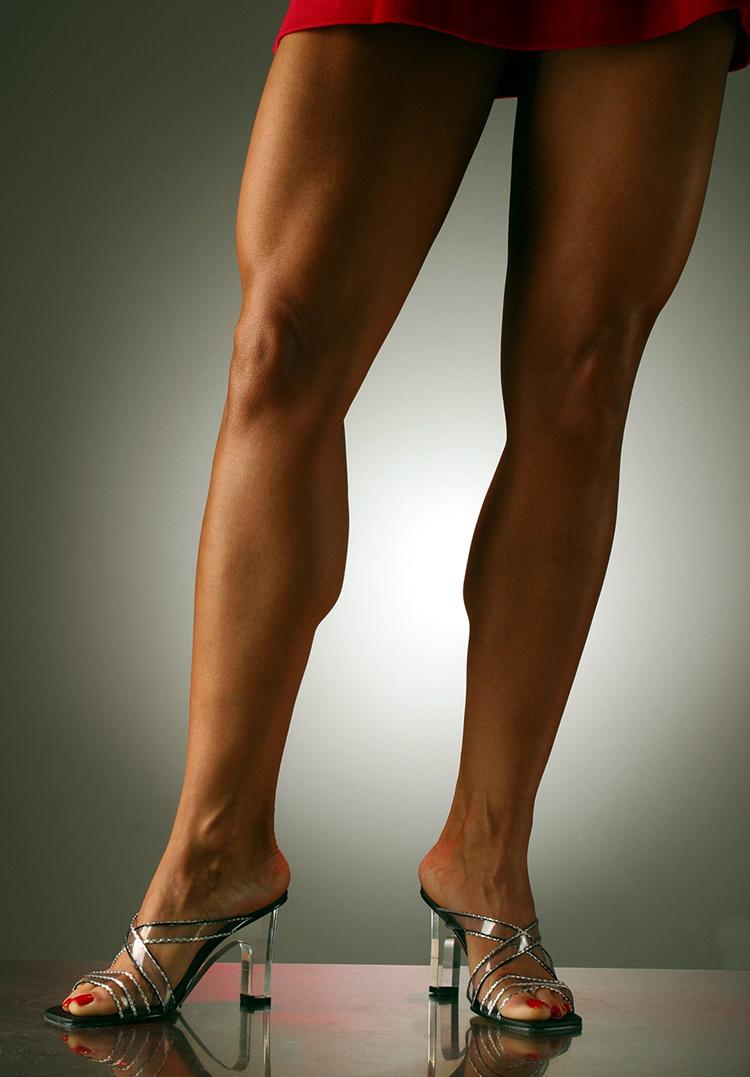 Tara Marie legs with high heels